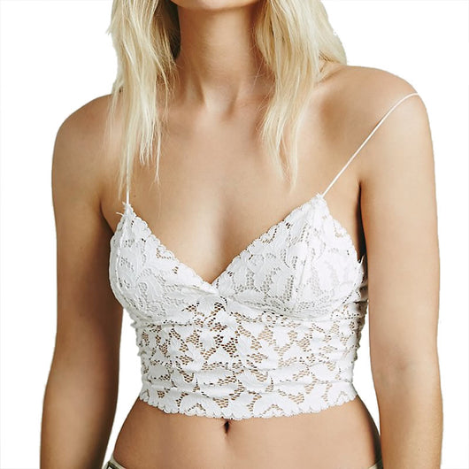Sleeky String Lace Crop Top