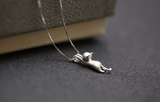 Sterling Silver Kitty cat Necklace