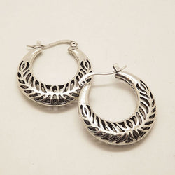 Hollow carved Hoops