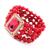 Multi Layer  Red Bracelet