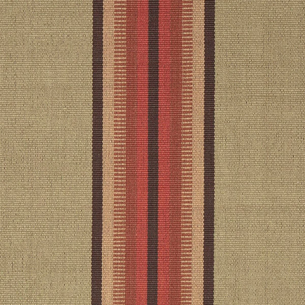 Adamstown is a classic center stripe design that comes in both runner and area rug sizes. It comes in two colorways. This one has red, brown, and gold central stripes on a khaki background with brown stripes on each edge.