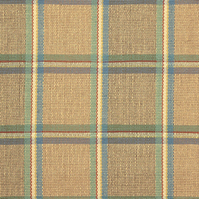 Amagansett #217-C is a versatile windowpane plaid of blue, green, cream, and rust stripes on a sandy background. With hints of blue, green and red and the neutral background, Amagansett coordinates with almost any color palette and is available in runners and area rug sizes up to 9 feet x 12 feet.