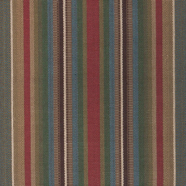 Bank Street is a rich vertical stripe design in rust, cocoa, tan, green, teal and antique gold stripes. Available in runner and area rug sizes.