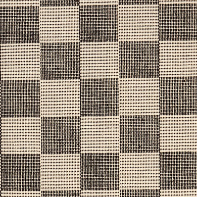 A traditional checkerboard pattern in classic charcoal and beige. Not as harsh as black and white but still within that neutral color palette. Coordinates with all decorating styles from modern to traditional. Available in virtually every size from runners to room size area rugs.