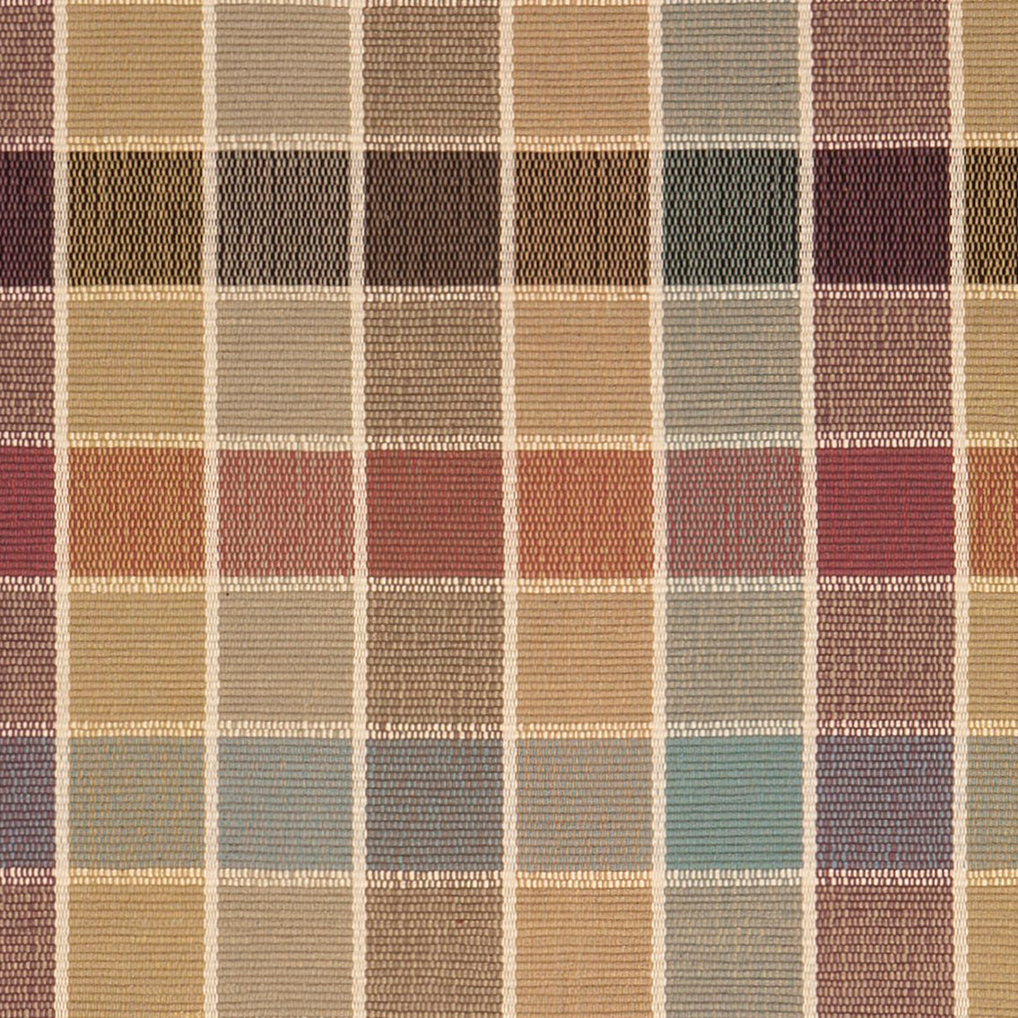 Eaton Square #43-B is a traditional checked pattern in rich, rustic hues of gold, plum, teal, sage and beige with cream lines. Beautiful with fringed or bound ends, this design is offered in almost every size from 30 inch wide runners to room sized area rugs.