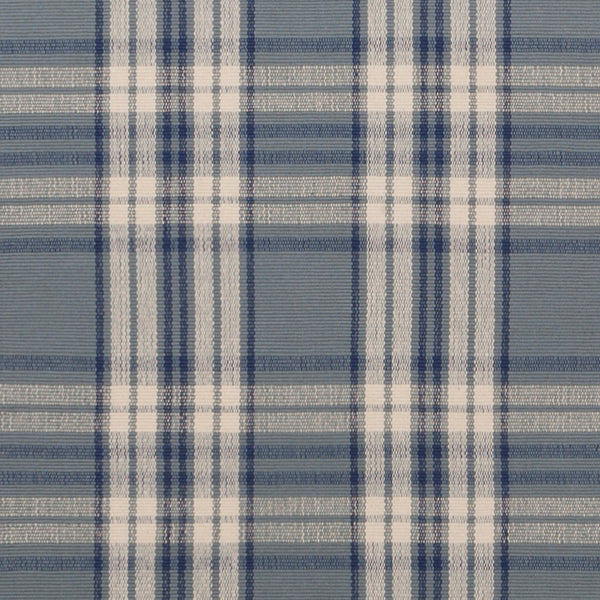 Kentwood #556 is a traditional blue plaid design featuring a medium blue background with cream and navy stripes. Beautiful in a beach or coastal home, or add a bit of country to your kitchen with a runner.