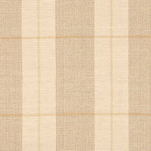 Milford #10-B is a classic neutral plaid design available in area rug sizes. Tan and natural  background with tan window panes. Adds an elegant and interesting element to your floors while remaining neutral.