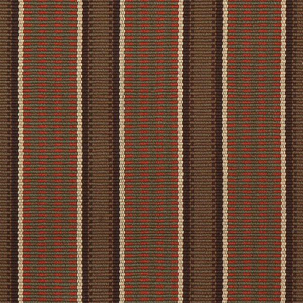 Randolph #271-D is a rich, vertical stripe design featuring cocoa, pumpkin, green, mushroom and tan stripes. Practical and beautiful on stairs or as a hallway runner, this design can also be seamed to any size for room size area rugs.