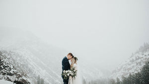 Cover-up at winter weddings