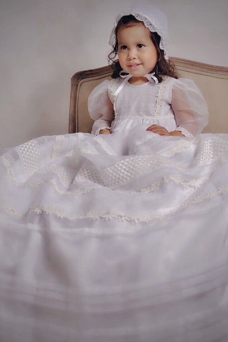 Veronica  Christening Gown Christening Gown - Bianca Miele London