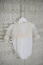 Load image into Gallery viewer, Bonnie Girls Christening Romper, Boys Romper, Bianca Miele London