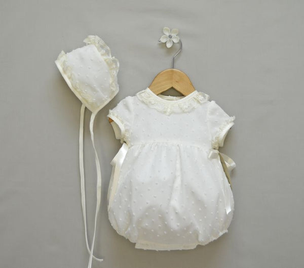 Apple Girls Christening Romper, Boys Romper, Bianca Miele London