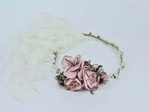 First Communion/Flower Girl Floral Hairpiece