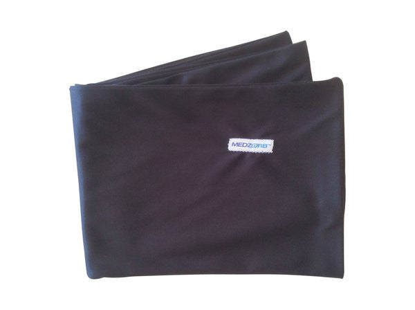 Sweat Absorbing Medzorb® LARGE Sports Towel in Black