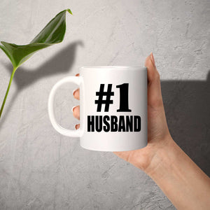 Number One #1 Husband - 11 Oz Coffee Mug