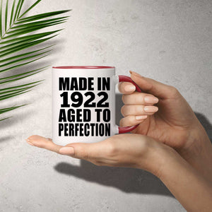 98th Birthday Made In 1922 Aged to Perfection - 11oz Accent Mug