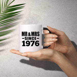 45th Anniversary Mr & Mrs Since 1976 - 11 Oz Color Changing Mug