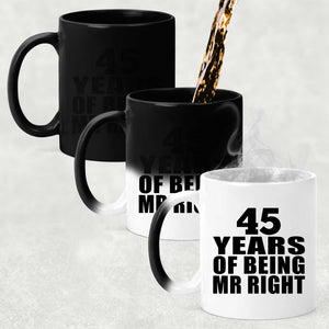 45th Anniversary 45 Years Of Being Mr Right - 11 Oz Color Changing Mug