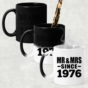 44th Anniversary Mr & Mrs Since 1976 - 11 Oz Color Changing Mug