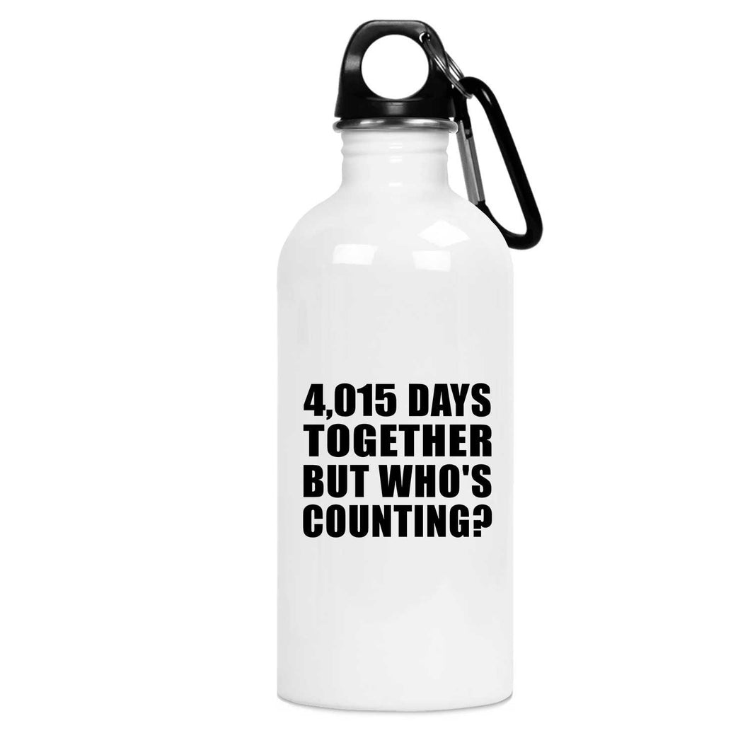 11th Anniversary 4,015 Days Together But Who's Counting - Water Bottle