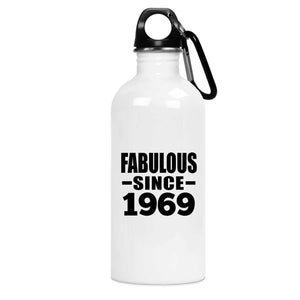 52nd Birthday Fabulous Since 1969 - Water Bottle