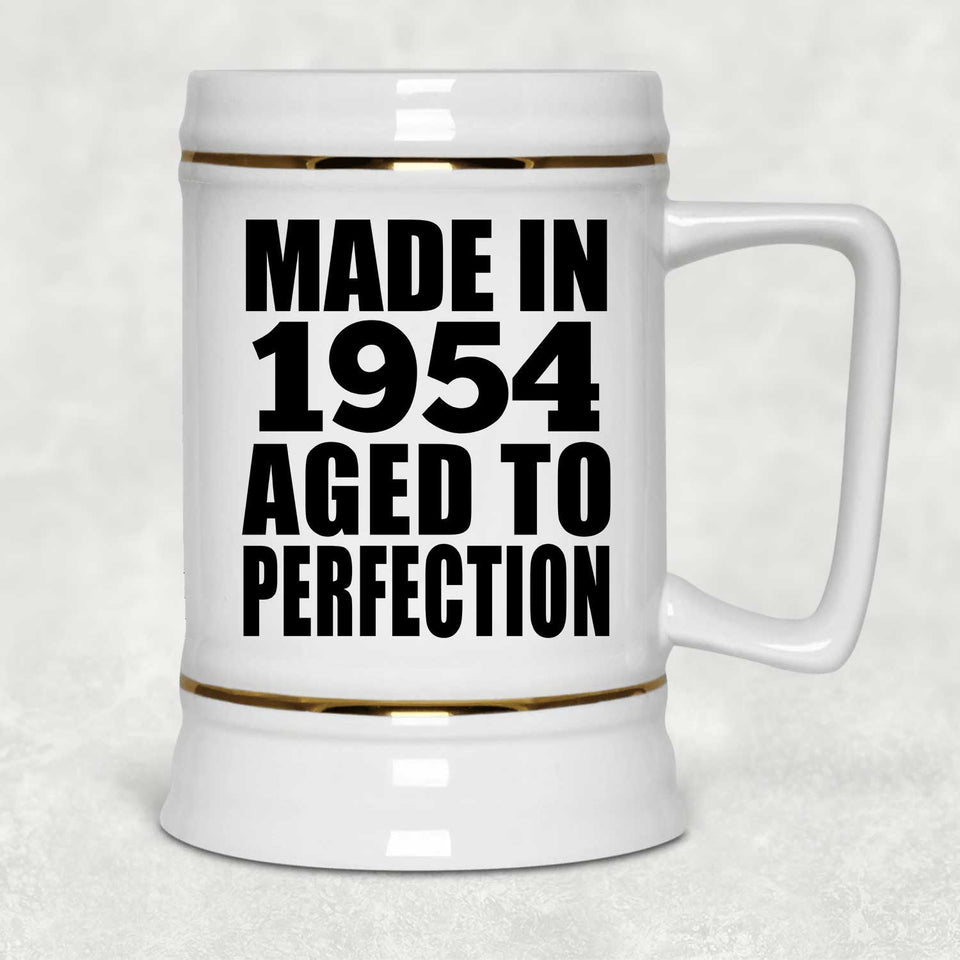 67th Birthday Made In 1954 Aged to Perfection - Beer Stein