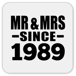 31st Anniversary Mr & Mrs Since 1989 - Drink Coaster