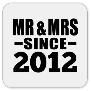 8th Anniversary Mr & Mrs Since 2012 - Drink Coaster