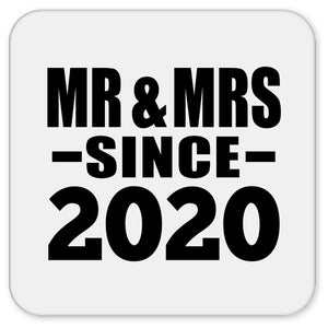 Anniversary Mr & Mrs Since 2020 - Drink Coaster