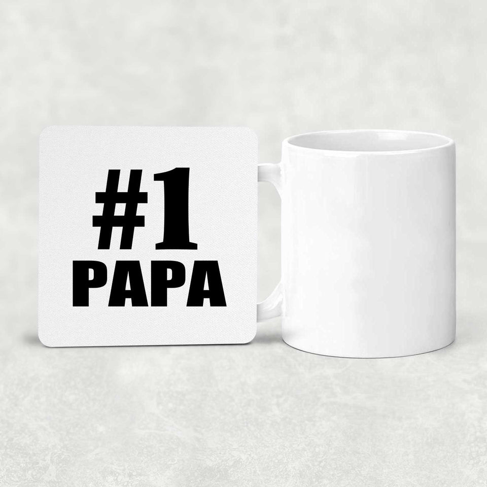 Number One #1 Papa - Drink Coaster