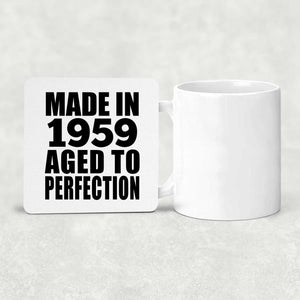 62nd Birthday Made In 1959 Aged to Perfection - Drink Coaster