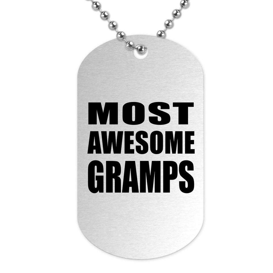 Most Awesome Gramps - Military Dog Tag