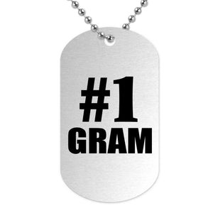 Number One #1 Gram - Military Dog Tag