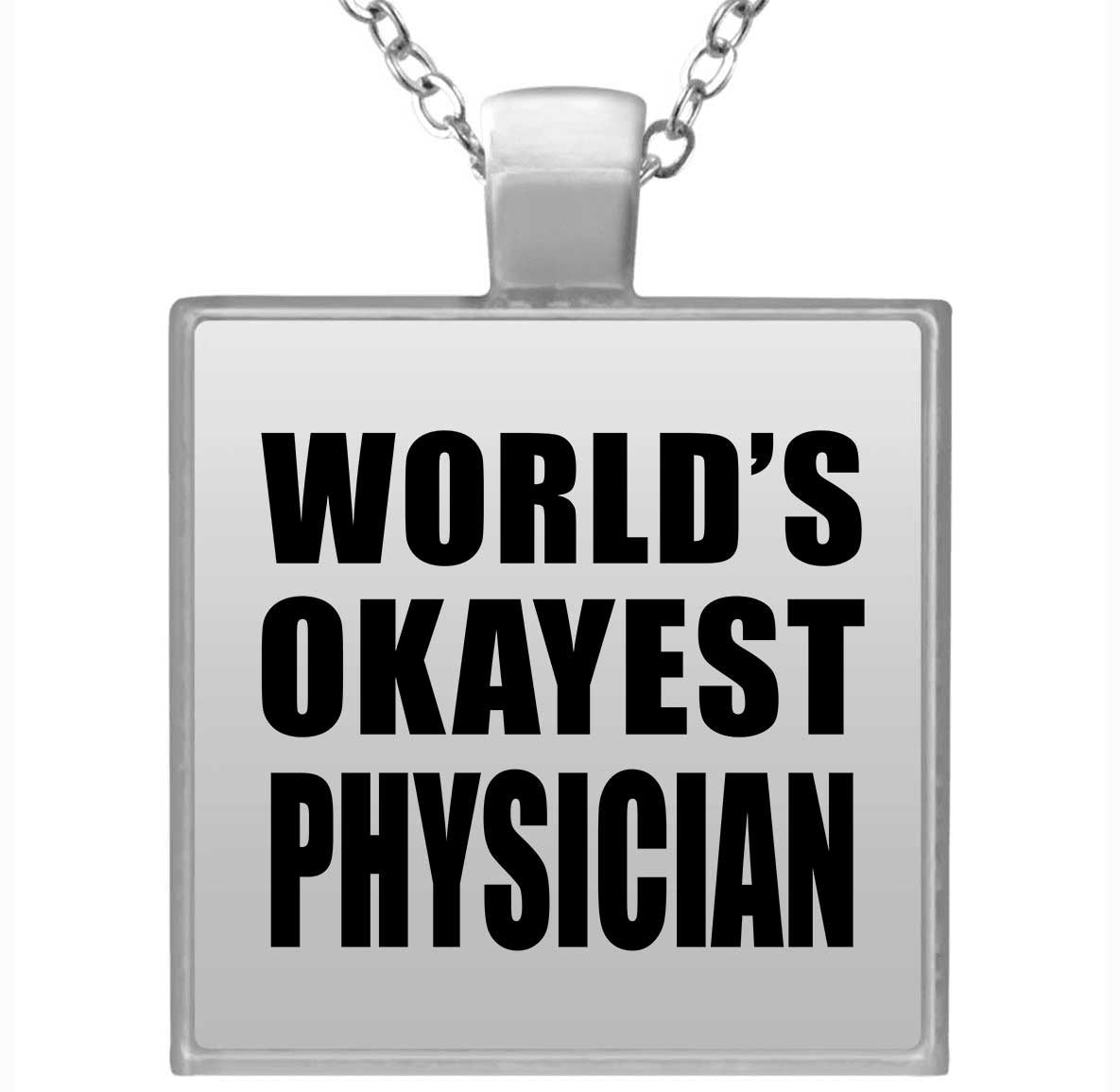 World's Okayest Physician - Square Necklace
