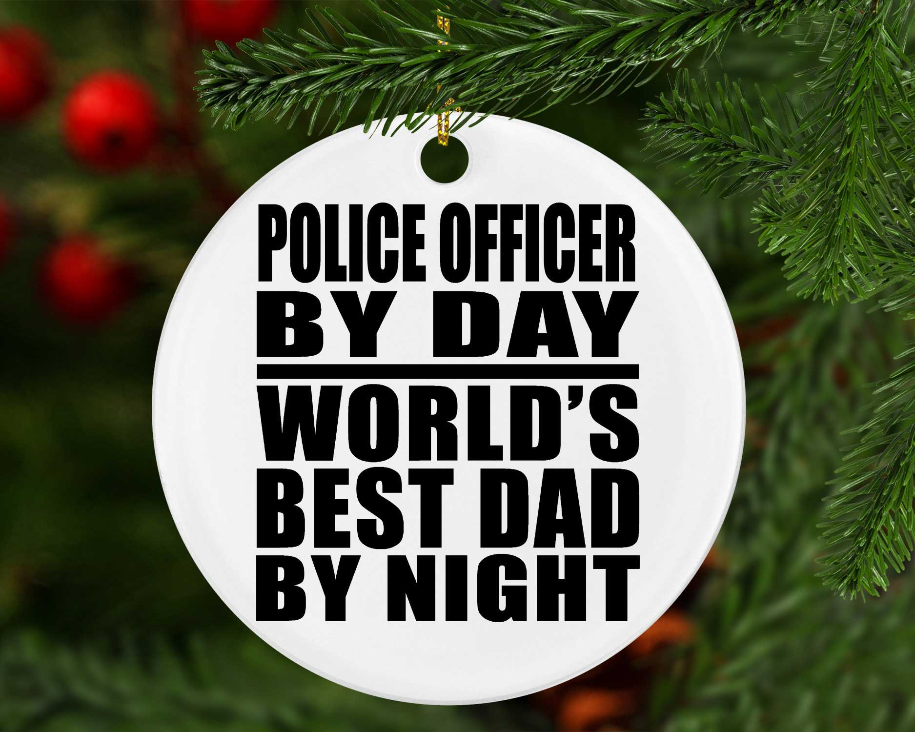 Police Officer Ornament Thin Blue Line Ornament,Police Officer Gift Tag,Cop Ornament,Cop Dad, Police Ornament Gift Fathers Day Gift