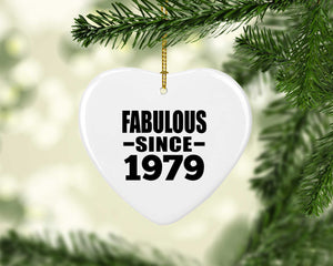 42nd Birthday Fabulous Since 1979 - Heart Ornament