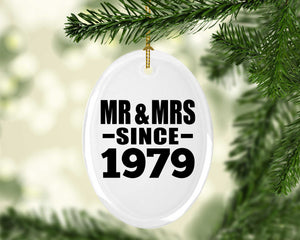 41st Anniversary Mr & Mrs Since 1979 - Oval Ornament