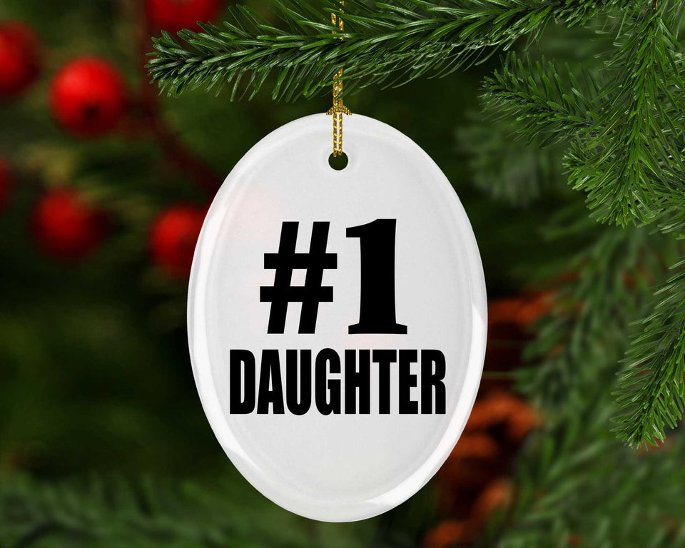 Number One #1 Daughter - Oval Ornament