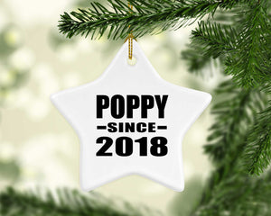 Poppy Since 2018 - Star Ornament