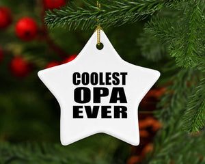Coolest Opa Ever - Star Ornament