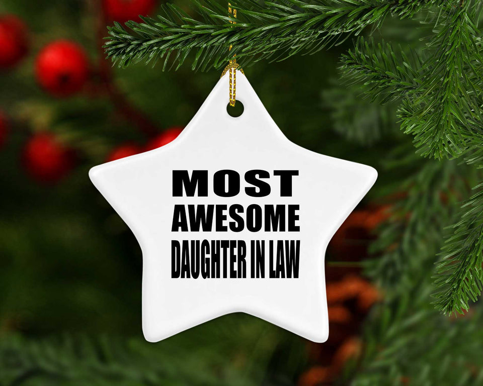 Most Awesome Daughter In Law - Star Ornament