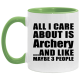 All I Care About Is Archery - 11oz Accent Mug Green