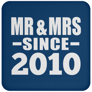 11th Anniversary Mr & Mrs Since 2010 - Drink Coaster