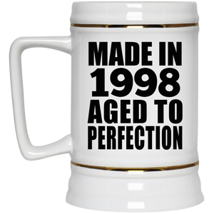 23rd Birthday Made In 1998 Aged to Perfection - Beer Stein