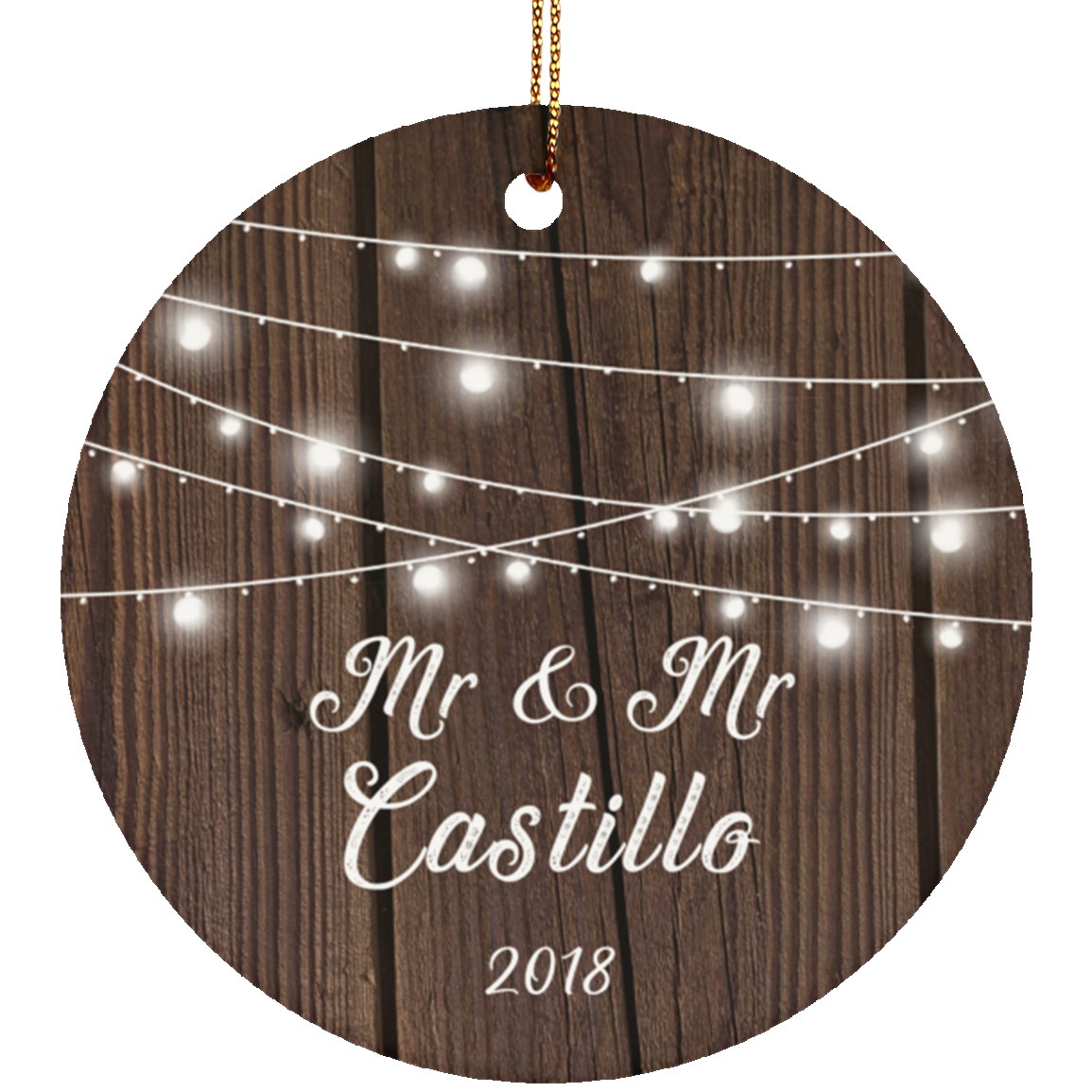 Mr & Mr Castillo 2018 - Circle Ornament