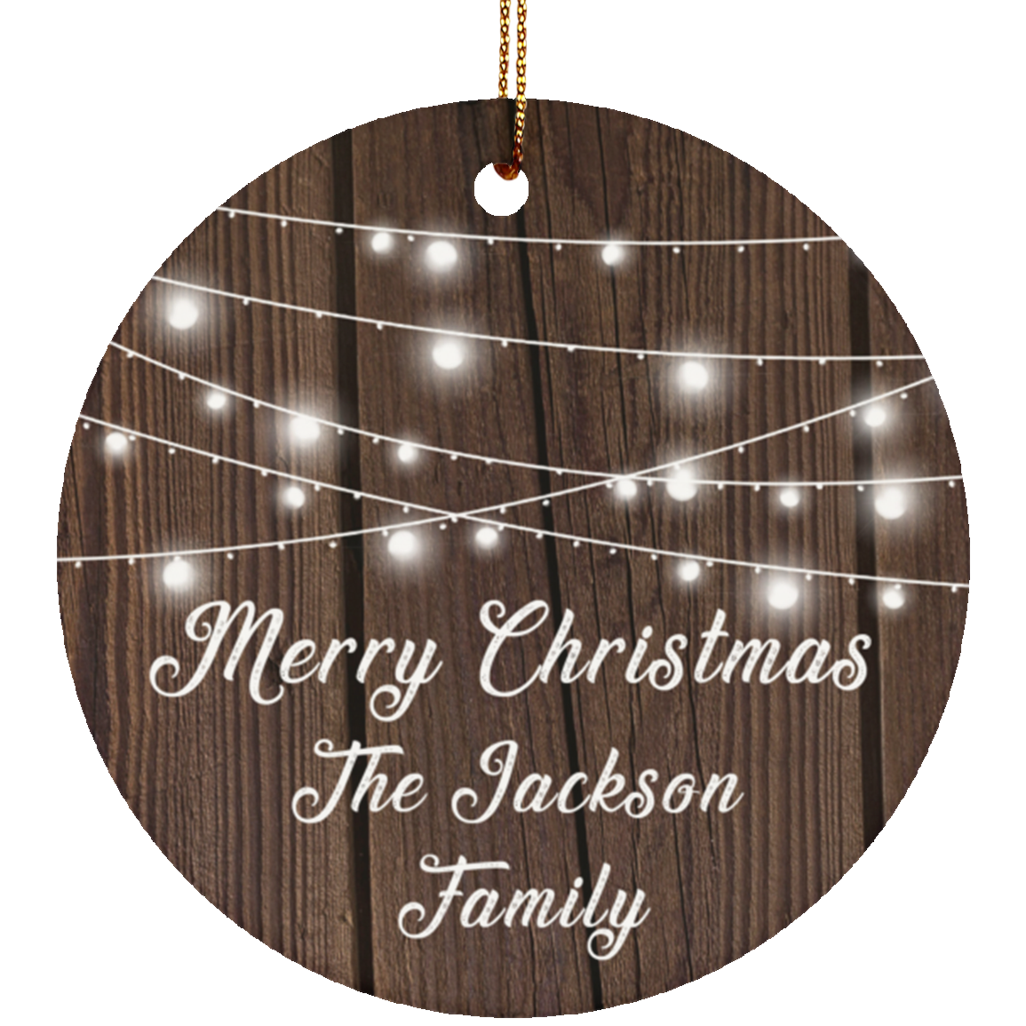 Merry Christmas The Jackson Family - Circle Ornament