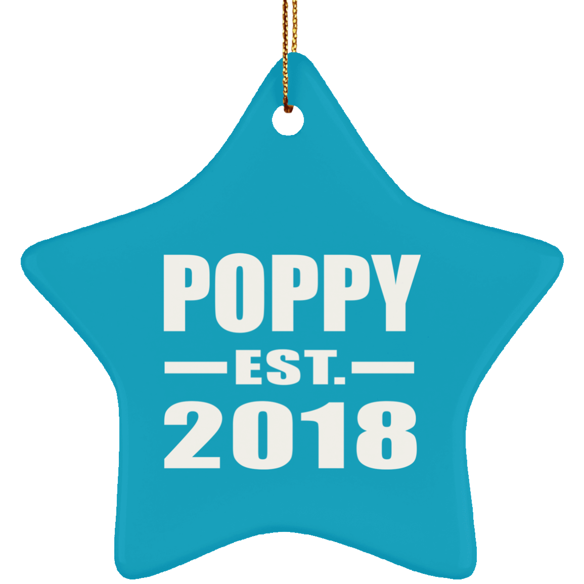 Poppy Established EST. 2018 - Star Ornament