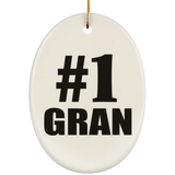 Number One #1 Gran - Oval Ornament