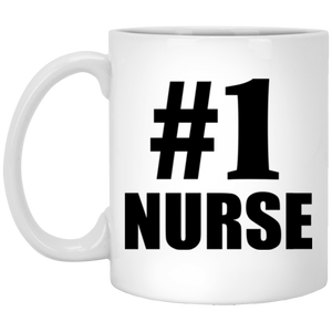 Number One #1 Nurse - 11 Oz Coffee Mug
