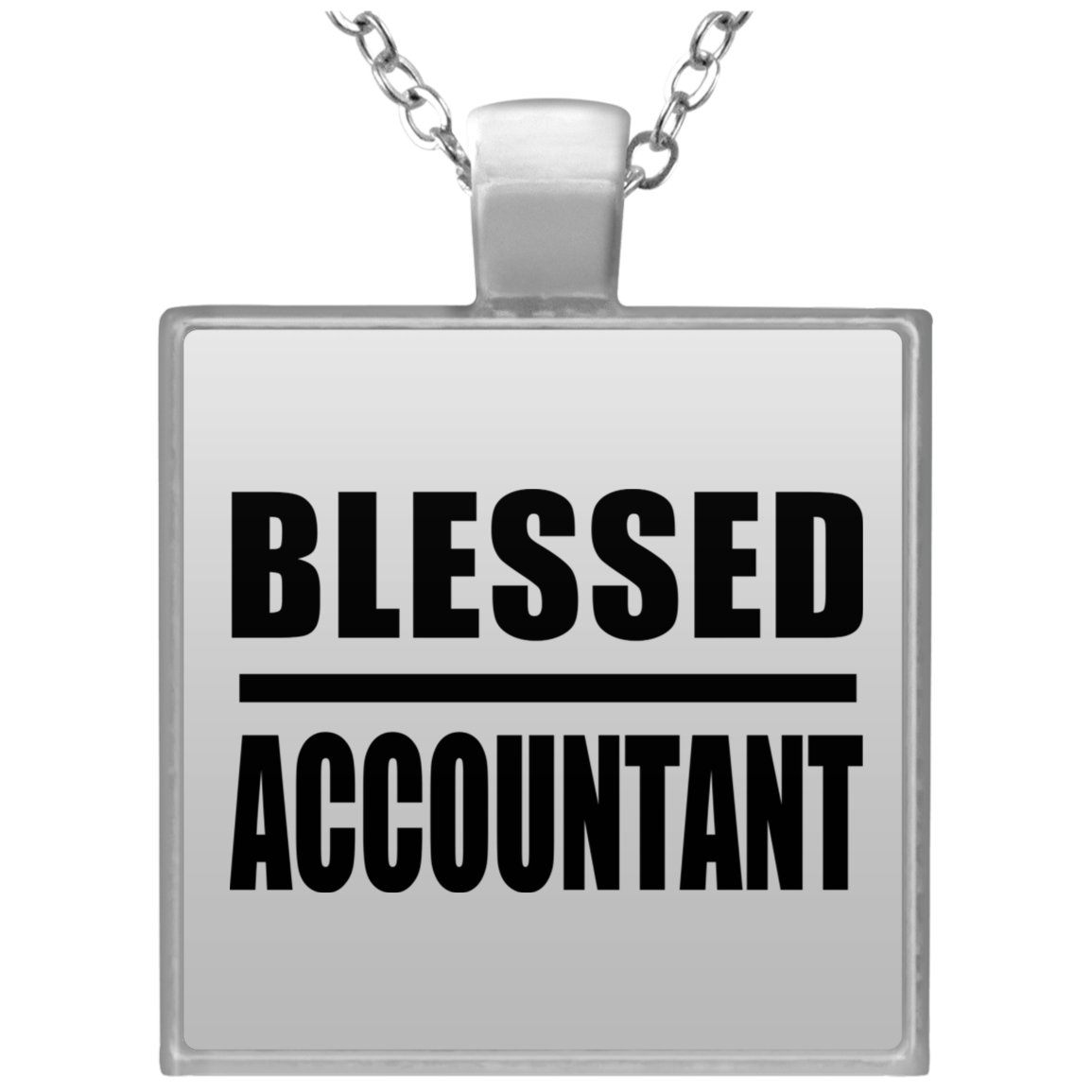 Blessed Accountant - Square Necklace